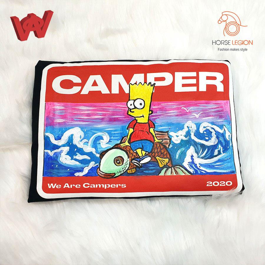 custom áo we are campers -  Bart Simpson