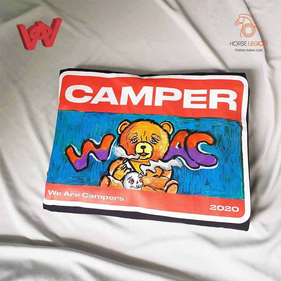 custom áo we are campers - gấu bựa